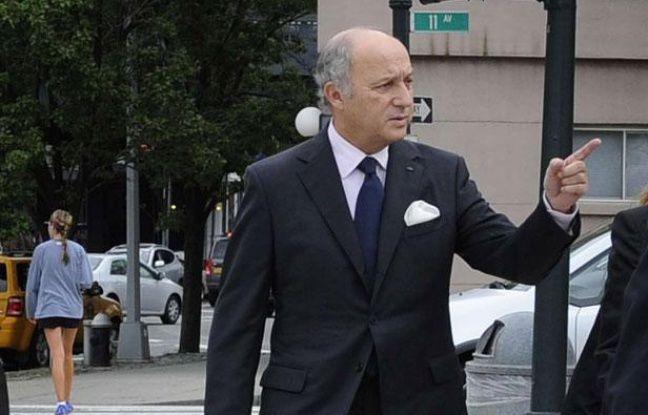 Laurent Fabius le 29 septembre 2012 à New York (Etats-Unis).
