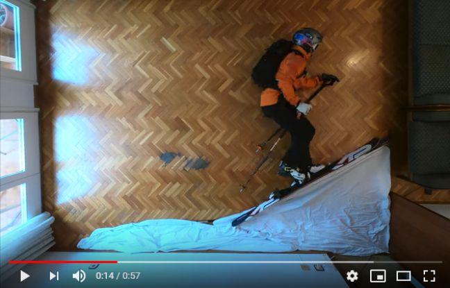 VIDEO. Coronavirus: En plein confinement, il fait du ski freeride... au milieu de son salon