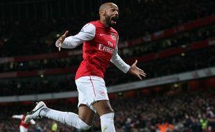 Thierry Henry lors de son retour à Arsenal, en janvier 2012.