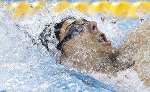 Camille Lacourt lors de sa finale olympique le 9 août 2016.