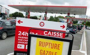 Une station essence en rupture de gazole.