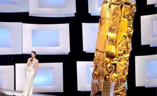 Cérémonie des César 2010, présidée par Marion Cotillard, le 27 février 2010.