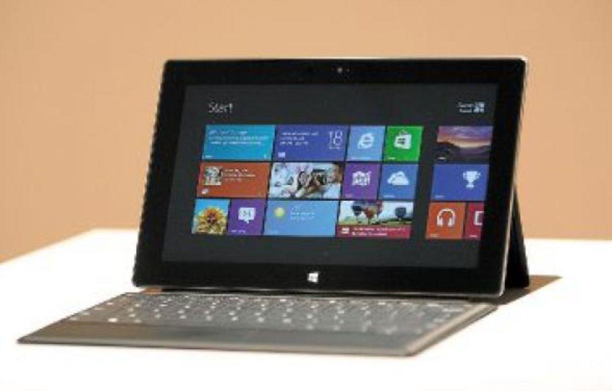 Microsoft a intégré à sa tablette Surface un clavier de seulement 3mm d'épaisseur. –  D. MCNEW/REUTERS