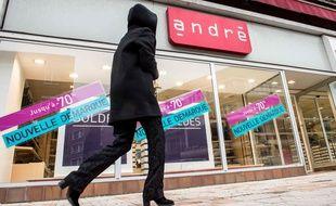 Une boutique André à Dunkerque en 2017.