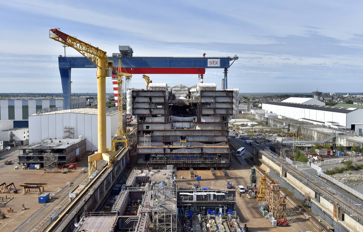 Les chantiers navals STX de Saint-Nazaire – L. Venance / AFP