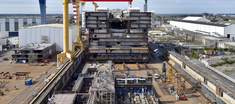 Les chantiers navals STX de Saint-Nazaire