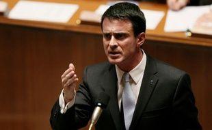 Manuel Valls le 3 janvier 2016 à l'Assemblée nationale à Paris