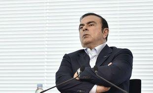 Carlos Ghosn lors de la conférence de presse au cours de laquelle il a avoué sa faute, le 19 novembre 2018.