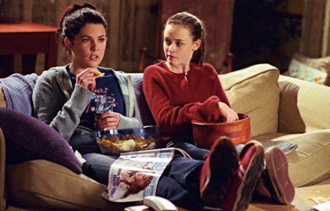 Une soirée télé chez les Gilmore.