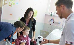 Arnaud Souquet a donné de son temps pour les enfants hospitalisés à Lenval.