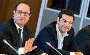 François Hollande et Alexis Tsipras le 22 juin à Bruxelles.