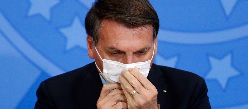 Le président du Brésil Jair Bolsonaro, à Brasília le 17 juin 2020.