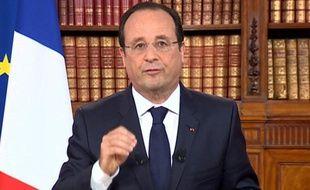François Hollande lors de son allocution télévisée au lendemain des élections européennes, le 26 mai 2014.