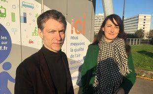 Stéphane Baly et Julie Nicolas, candidats de la liste EELV à Lille, s'alarment de la pollution atmosphérique