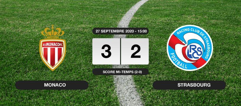Monaco - RC Strasbourg: 3-2 pour Monaco contre le RC Strasbourg au stade Louis II