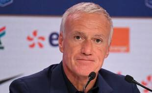 Didier Deschamps lors de la première annonce de la liste des Bleus post-Euro, le 26 août 2021.