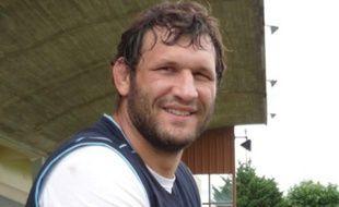 Lionel Nallet lors d'une séance au centre d'entraînement du Racing Métro 92, à la Croix de Berny, Antony (92), le 23 juillet 2009.