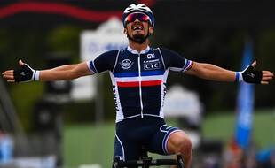Julian Alaphilippe a remporté le titre de champion du monde de cyclisme, le 27 septembre 2020.