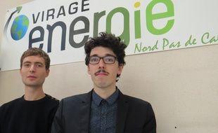 Mathieu Le Dû, ingénieur de recherche et Mathias Louis-Honoré, président de Virage Energie.