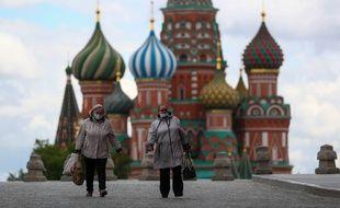 La place rouge à Moscou le 21 mai 2020.