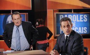Nicolas Sarkozy le 10 février 2011 dans l'émission Paroles de Français.