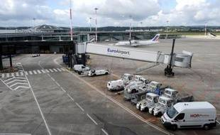 Vue générale de l'Euroairport, l'aéroport de Bâle-Mulhouse le 27 août 2014 à Saint-Louis, dans l'est de la France