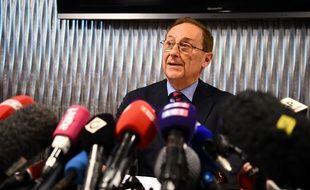 Didier Gailhaguet lors d'une conférence de presse à Paris, le 5 février 2020.