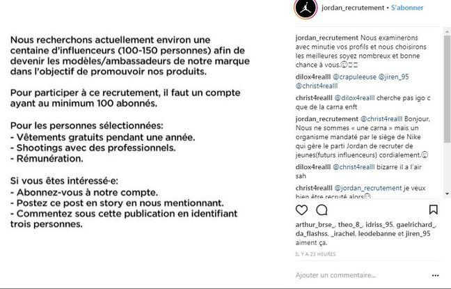 Fausse annonce de recrutement sur Instagram (3)