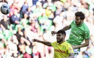 Benjamin Corgnet a sauvé les Verts avec un puissant coup de tête ce dimanche.