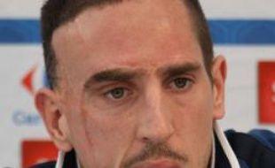 Franck Ribéry, le 21 mars 2011, à Clairefontaine.