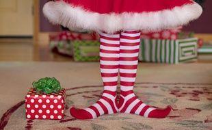Illustration d'un elfe de Noël...