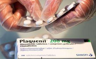 Des plaquettes de Plaquenil, médicament contenant de la chloroquine. (Illustration)