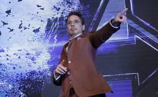 Robert Downey Jr. en tournée promo mondiale pour «Avengers:Endgame», le 15 avril à Seoul en Corée du Sud