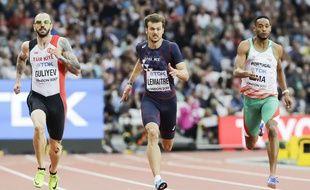 Christophe Lemaitre s'est qualifié pour les demi-finales du 200m des Mondiaux de Londres, le 7 août 2017.