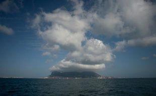 Une vue du rocher de Gibraltar depuis Algérisas