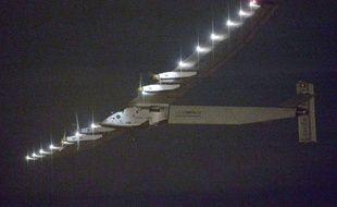 L'avion Solar Impulse le 28 juin lors de son départ de Nagoya au Japon vers Hawaï.