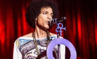 Le chanteur Prince en concert à Birmingham en 2014