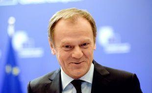 Le président du Conseil européen Donald Tusk le 17 février 2016 à Bruxelles
