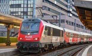 Un train Thello à destination de Venise.