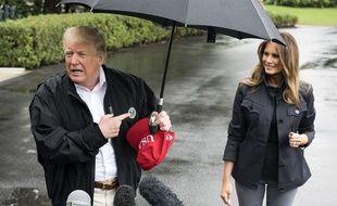 Donald et Melania Trump quittant la Maison Blanche pour la Floride.