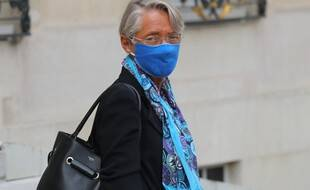 Elisabeth Borne à la sortie de l'Elysée, le 3 septembre 2020.