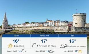 Météo La Rochelle: Prévisions du vendredi 18 octobre 2019