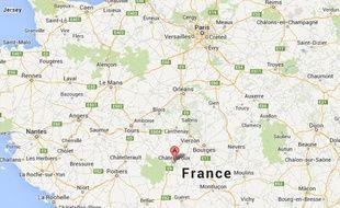 Google map de Châteauroux.