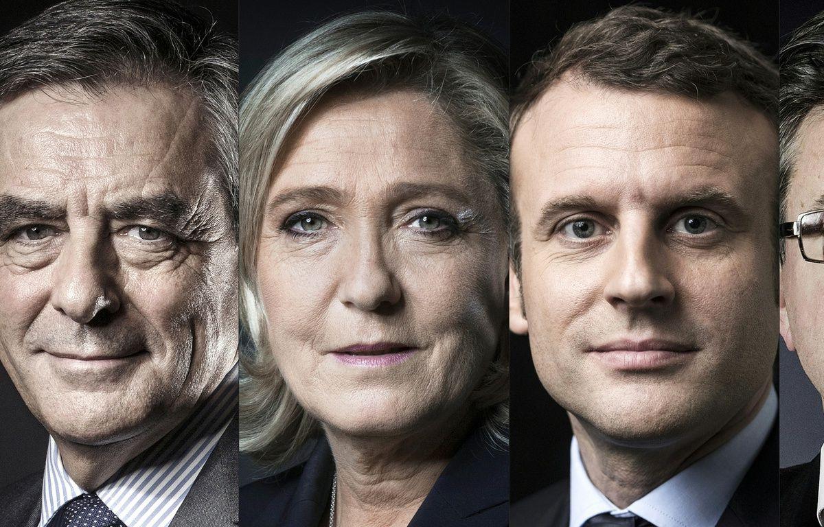François Fillon, Marine Le Pen, Emmanuel Macron et Jean-Luc Mélenchon. – JOEL SAGET, Eric FEFERBERG / AFP