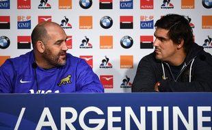 Le sélectionneur argentin Mario Ledesma en conférence de presse après le match contre la France.