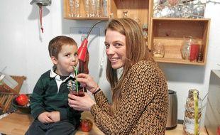 Eugénie Ruff a eu l'idée de ce café à la naissance de son fils Antoine, qui a aujourd'hui 3 ans.