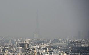 Paris, le 18 mars 2015. La capitale connaît un épisode de pollution aux particules fines.