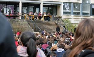 L'assemblée générale étudiante du 10 avril à l'université Rennes 2.