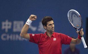 Novak Djokovic, vainqueur de Rafael Nadal en finale du tournoi de Pékin, le 6 octobre 2013.