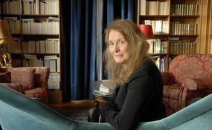 L'auteure française Annie Ernaux, chez elle à Cergy le 14 janvier 2008.